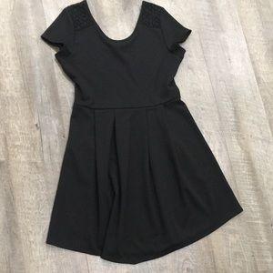 American Rag little black dress scoop neck w lace